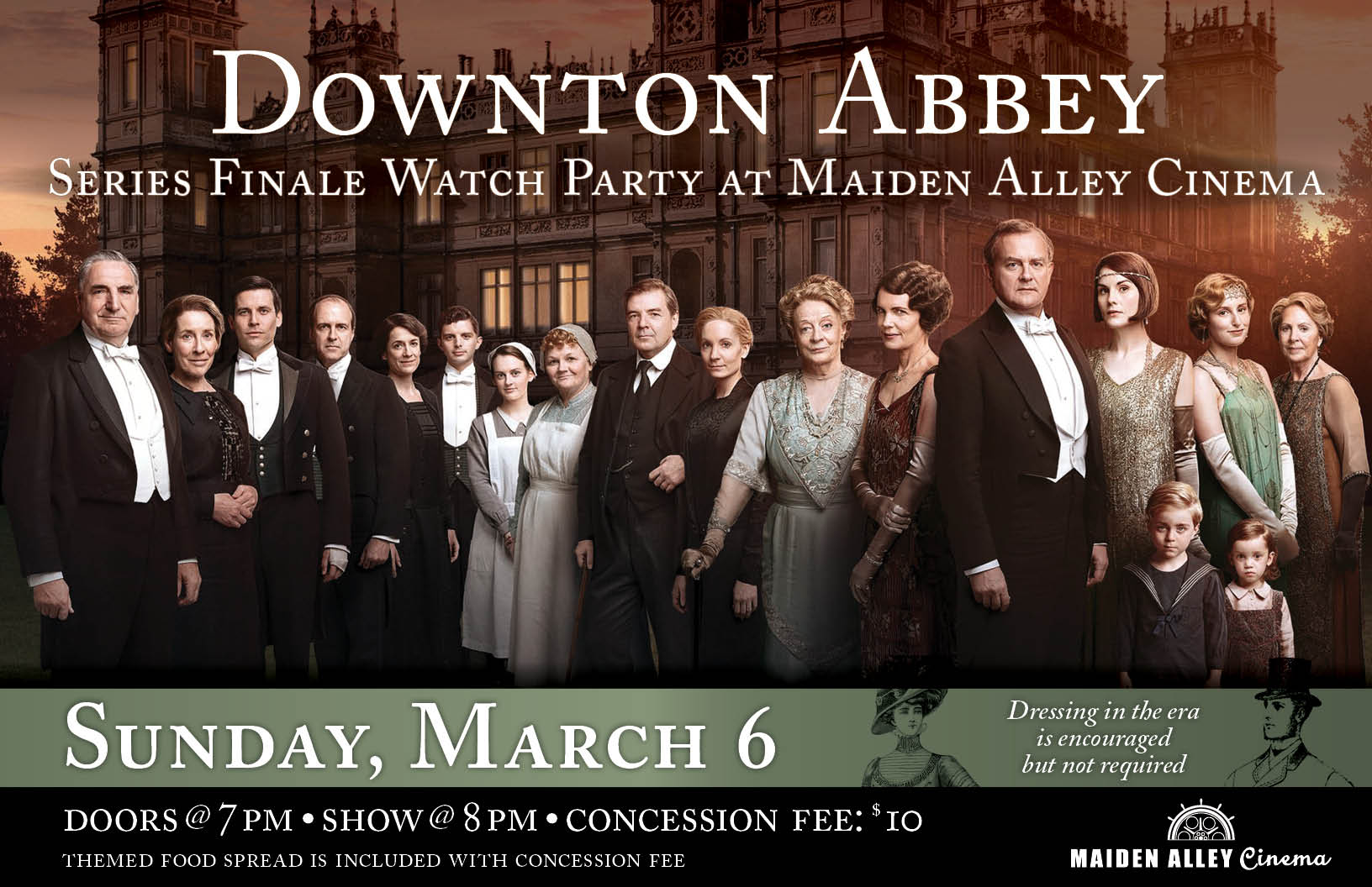 Downton abbey series finale watch party maiden alley cinema for Downton abbey tour tickets
